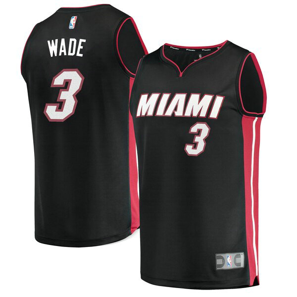 canotte Miami Heat Uomo Icon Edition Dwyane Wade 3 Nero